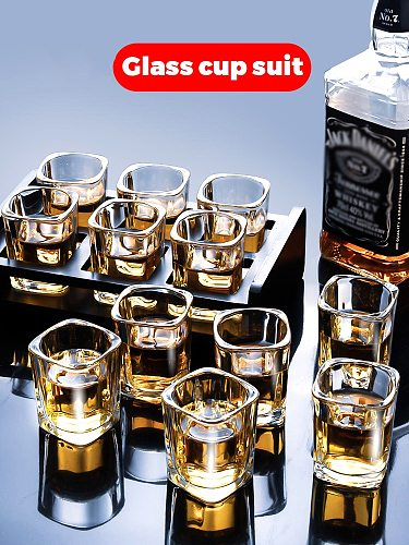 White Wine Glass Household Glass Wine Glass Set 6 Wine Glasses Small One Cup 2 Two Spirits Shot Glasses