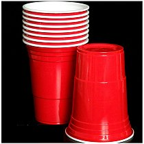 10Pcs/Setx Party Cup Bar Restaurant Supplies Household Items for Home Supplies 450ml Red Disposable Plastic Cup Cheap wholesale