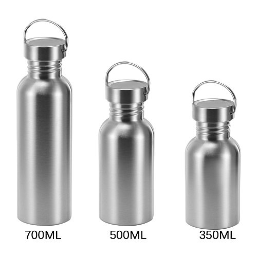 BPA Free Stainless Steel Water Bottle Lid Sports Flask Leak-proof Food Jar for Travel Yoga Cycling Hiking Camping 0.35/0.5/0.75L