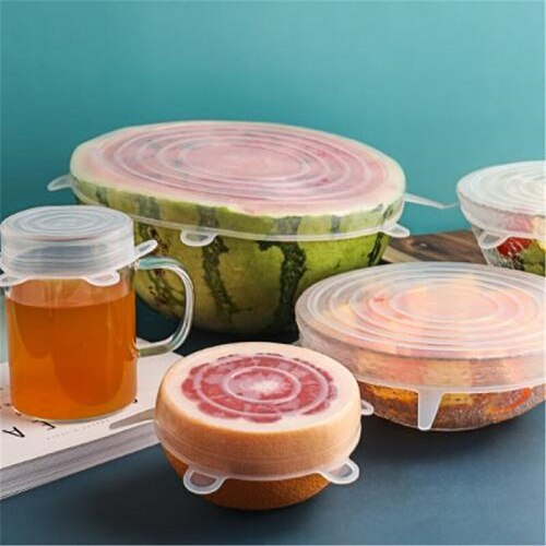 Reusable Airtight Food Packaging Paper Cover with Stretchable Silicone Lid, Fresh-keeping Sealed Bowl, Stretchable Packaging