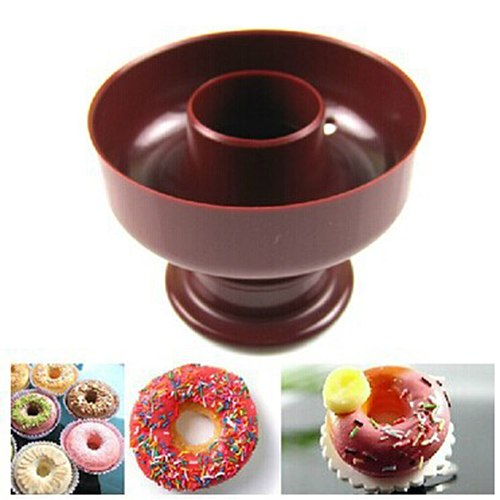 1PC Tool Donuts Maker Mold Food Grade Plastic Doughnuts Maker Cutter Fondant Decor DIY Cake Bread Desserts Bakery Baking Tool