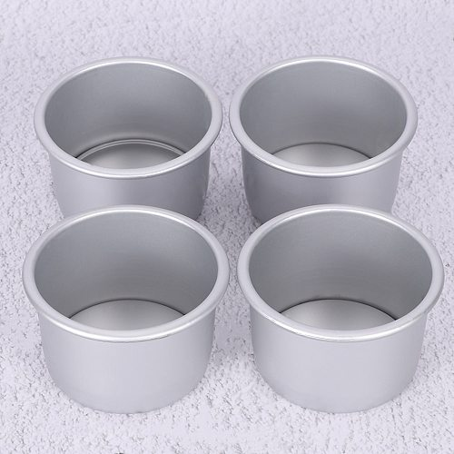 3pcs/lot 2inch diameter 6cm Aluminum Alloy Round Mini Cake Pan Removable Bottom Pudding Mold DIY Baking Kitchen Accessories