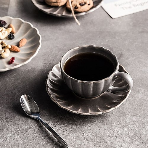 ANTOWALL Nordic personality ceramic coffee cup and saucer set milk cup afternoon tea breakfast cup