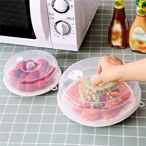 Large Microwave Splatter Cover Lid with Steam Vents Fresh-keeping Universal Plate Bowl Cover Stackable Sealing Disk Cover