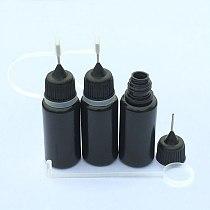 5pcs 10ml Squeeze Empty Black PE Dropper Bottles With Needle Caps Plastic Needle Bottles E Liquid Bottle