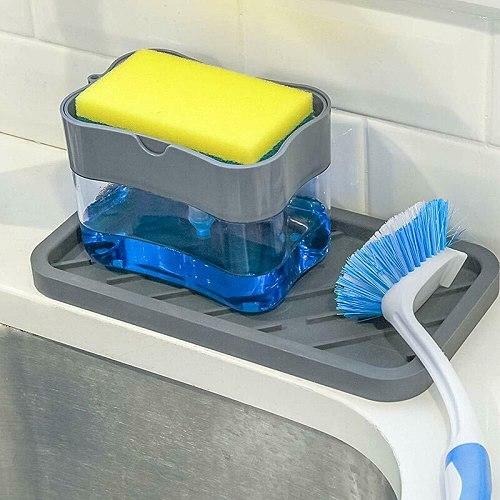 Dropship New 2-in-1 Soap Dispenser Dishwashing Dispenser Manual Dish Presses Kitchen Washing Liquid Soap Pump Wash Dispenser
