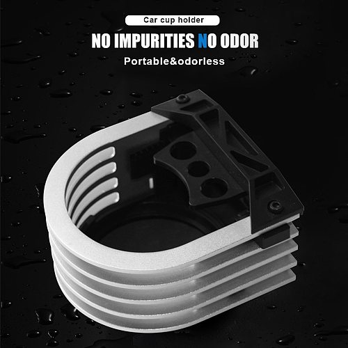 Car Cup Holder Drink Beverage Water Bottle Rack Mini Portable Air Outlet Aluminium Alloy Cup Support Car Interior Accessories