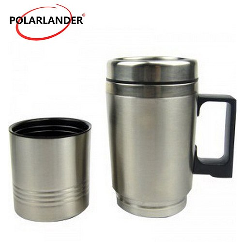Auto accessory stainless steel liner cup heating Cup car cigarette lighter power plus electric Water Tea Coffee Milk Bottle