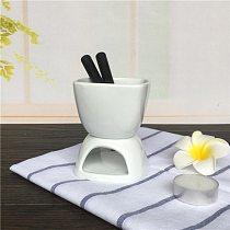 Cheese Mini Chocolate Fondue Set Hightea Serving Fondue Pot Mini Cheese Fondue Fondue Set Household Ceramic DIY Heating