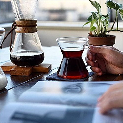 Pour Over 400 ML Glass Coffee Maker Glass Coffee Pot Resistant Hand Drip Espresso Coffee 1 PC High-Temperature V60 Filter Pot Co