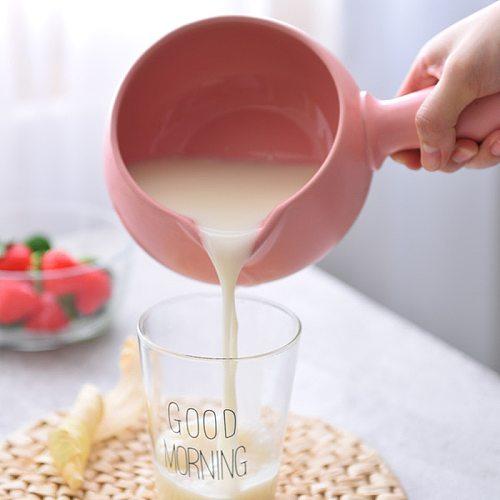 ceramic cooking pot 700ML Mini Ceramic Cookware Casserole Food Supplement Milk Pot Single Handle Porridge Pot Small Stockpot 9
