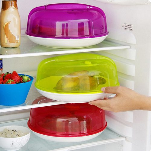 Kitchen Microwave Plate Cover Dish Food Cover Splatter Guard Tool Vent Guard Magnetic Steam Vents Bowl Lid