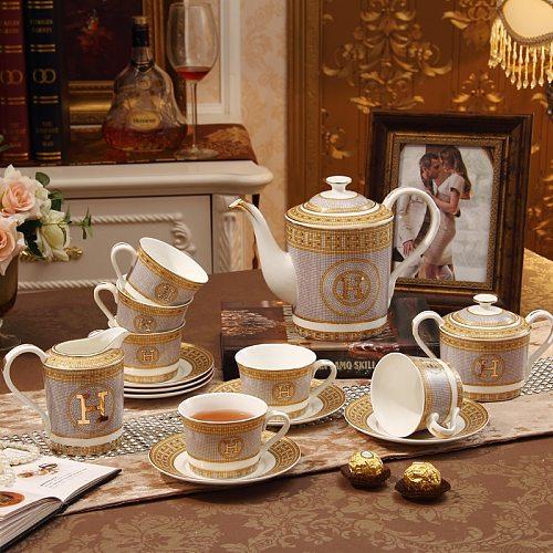 15 European-style ceramic coffee set luxury tea set tea set English afternoon tea creative wedding gift tea cup set