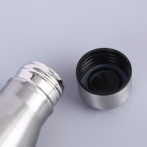 Pot sturdy stainless steel cola sports bottle water cup single layer non-insulated metal cola beverage bottle drink