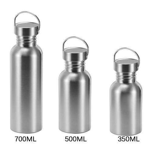 Fashion 350/500/750ml Large Capacity Stainless Steel Single Layer Sports Kettle Outdoor Bicycle My Water Bottles