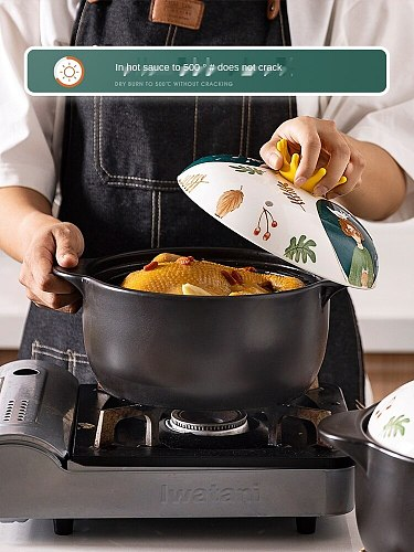 Casserole for Making Soup Household Stewing Pot Gas Stove Universal Ceramic Saucepan