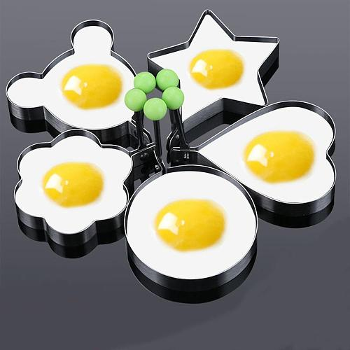 New Specials Omelette Mold Stainless Steel Love Omelette Model Heart-Shaped Convenient Creative Round Poached Egg Tool