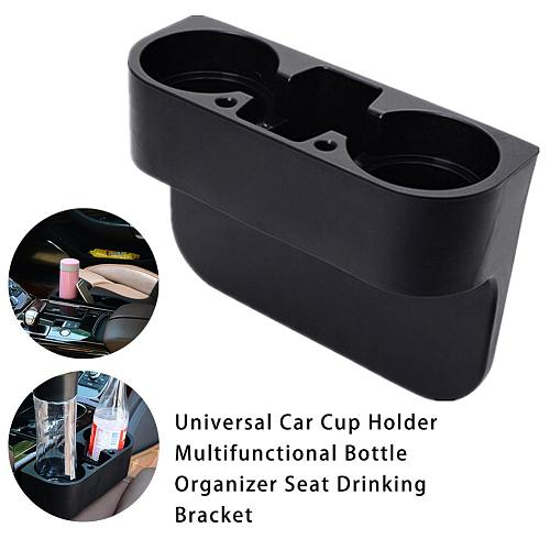 Car Double Hole Cup Holder Auto Interior Multifunction Vehicle Seat Gap Cup Drink Bottle Phone Holder Stand Boxes Car Accessorie