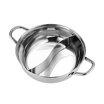 Thickened Hot Pot Cooking Tool Stainless Steel Cookware Hot Pot Compatible Soup Stock Pots Home Kitchen Accessories