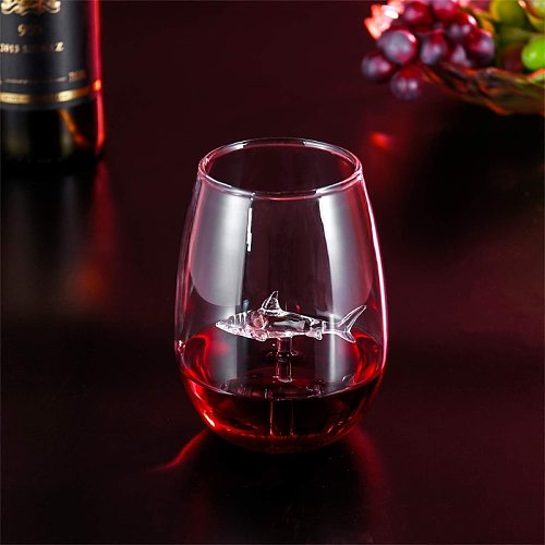 Shark Wine Glass Cup European Crystal Red Wine Cup Wedding Party Gift High Boros W0YC