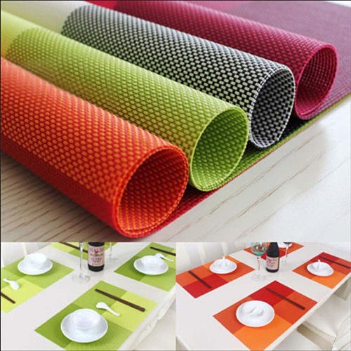 45.5x30.5cm PVC Heat Insulation Non-slip Placemat For Dining Table Bowl Dish Cup Pad Mat Waterproof Set de Table Kitchen Placema
