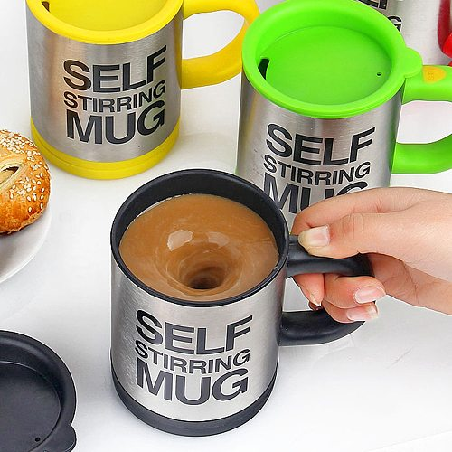 400ml Coffee Mugs Automatic Electric Lazy Self Stirring Coffee Milk Mixing Thermal Mug Stainless Steel Double Insulated Cup