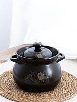 Casserole cooker household gas ceramic pot corrugated soup casserole open fire vintage bandit Chinese medicine stew soup pot sma