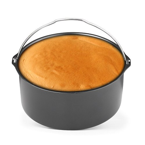 Air Fryer Baking Pan Non-stick Carbon Steel Fried Chicken Pot for Microwave Dutch Oven Cake Baking Barrel