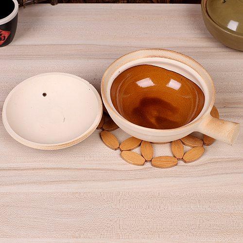 500ml 800ml Chaoshan Chaozhou Casserole Rice Noodle Casserole Porridge Pottery Pot With Handle Clay Pot