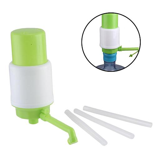 Bottled Drinking Water Pump With Hose Extensions Hand Press Manual Pump Dispenser Removable Tube Water Bottles Suction Unit