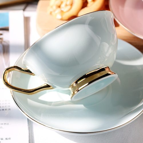 BN01041 European style luxury coffee cup set 200ml glid coffee cup and saucer herbal tea cup set,indie hipster design,