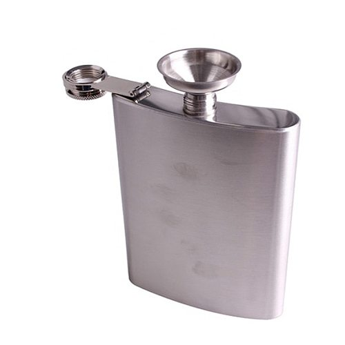 Stainless 18oz Hip Flask Drink Liquor Whisky Flask Screw Cap Funnel Cap Drinkware Bottle Hip Flask Kitchen Drinkware