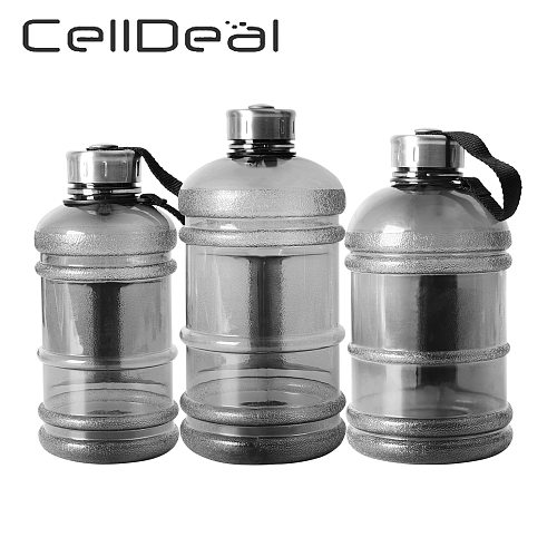 Large Capcity Water Bottle 1L/1.5L/2.2L Shaker Bottle with Handle Outdoor Fitness Running Gym Training Plastic Sports Bottles