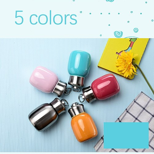 Solid color Thermo Cup Kid Stainless Steel Thermos Bottle Thermo Mug Cute Thermal Flask Child Tumbler Thermo cup