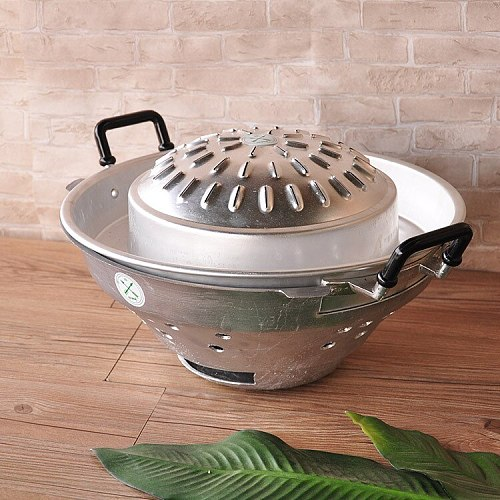 High Quality Thailand Style 35cm Iron Hot Pot Thailand Characteristic Fondue With Cover Free Shipping