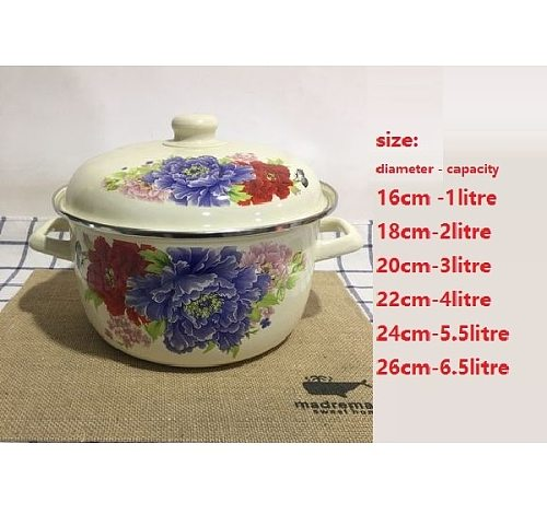 Casserole cooking pot enamel soup stew pot soup pot milk pot kitchen utensil 1-6litre capacity selection