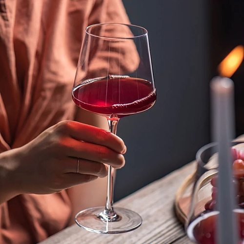500-650ml Creative Square Burgundy Red Wine Glasses Luxury Cocktails Stemware Glass Kitchen Family Wine Drinking Goblet