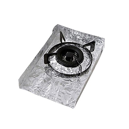 2Pcs Reusable Gas Stove Burners Covers Aluminum Foil Surface Protection Mat Pad Kitchen Accessories Tools Cookware