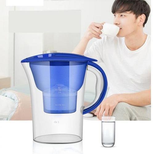 2.5L Water Filter Cartridges Water Filter Jug 10-Cup Water Purifier BPA Free 4-Layer Water Filtration