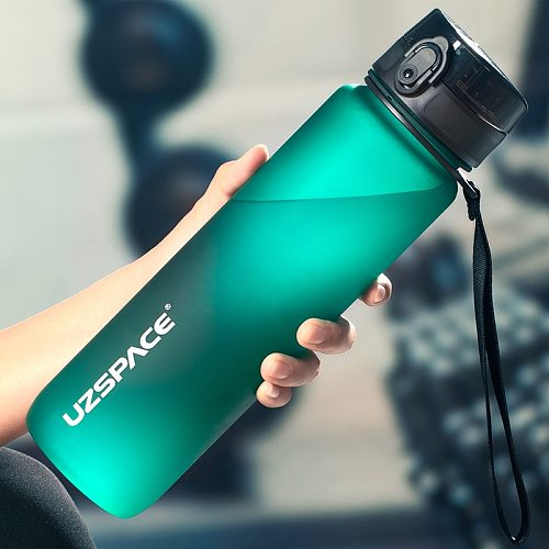 New 1000ml Sports Water Bottle BPA Free Portable Leak-proof Shaker bottle Plastic Drinkware Outdoor Tour Gym Free Shipping items