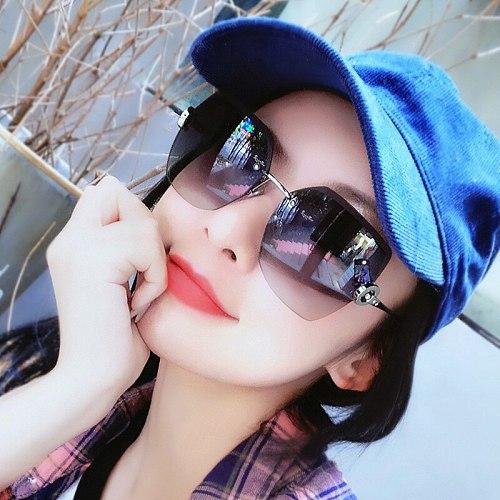 Women's Sunglasses New Fashion Cut Edge Polygonal Pink Sunglasses Trendy Street Shooting  Vintage Decorative Glasses