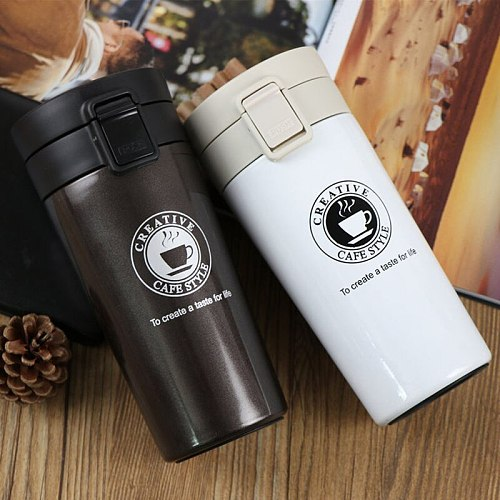 Thermos Coffee Mug Double Wall Stainless Steel Tumbler Vacuum Flask bottle thermo Tea mug Travel thermos mug Thermocup