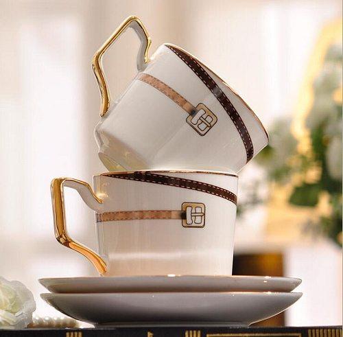 European British ceramic bone china tea set coffee set aristocracy cup with saucer