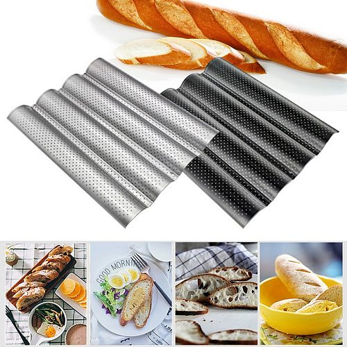 1pcs French Bread Baking Mold Bread Wave Baking Tray Nonstick Cake Baguette Mold Pans 2/3/4  Waves Bread Baking Tools