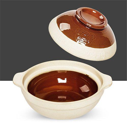 500ml 750ml Chaoshan Chaozhou Casserole Rice Noodle Casserole Porridge Pottery Pot With Double Ear Clay Pot