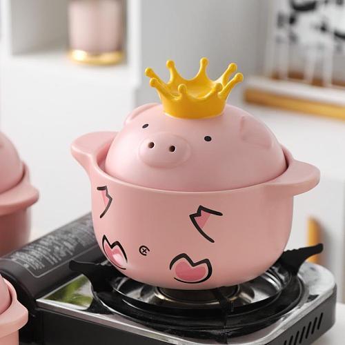 Ceramic Soup Pot Milk Pot Casserole Stew Pot Soup Porridge Household Ceramic High Temperature Fire Fire Gas Soup Pot Vintage