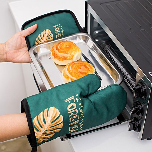Cute Oven Mitts and Pot Holder Sets 2pcs Non-Slip Potholders Kitchen Heat Resistant Hot Pads for Women Cooking Gloves PA