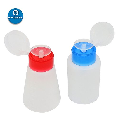 180ML Alcohol Bottle Plastic Bottle Liquid Container Press Pump Dispenser Cleaning for Mobile Phone PCB Repair Hand Tools