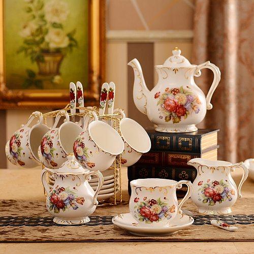 European Coffee Cup Set British Cup Plate High-grade Ceramics Western Black  Tea Cup Afternoon Tea Cup Delivery Shelf
