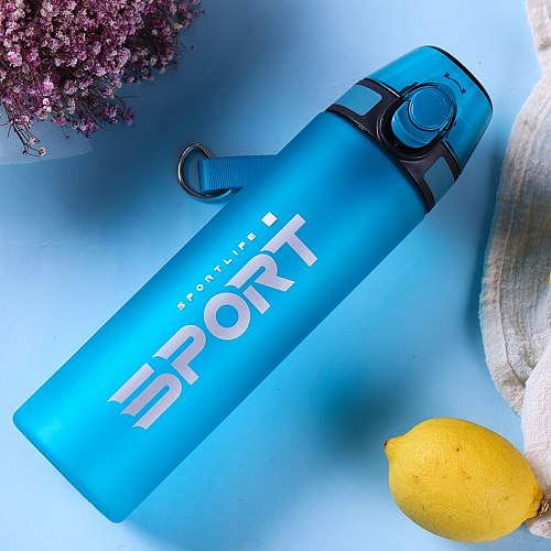 Matte Sport Water Cup Protein Shaker Bottle Outdoor Portable Leak Proof Drinkware Thermos Kettle Kitchen Fitness Hot Water Cup